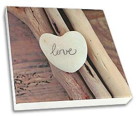 Cadre Bois Déco Toile Peinte LOVE