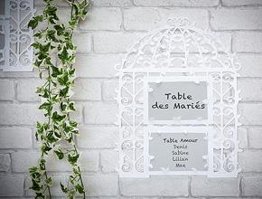 Marque Table Cage à Oiseaux Géant Mariage Blanc