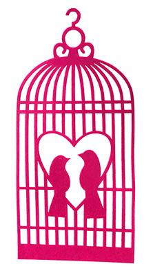Cage Oiseaux Feutrine Décoration