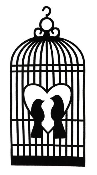La cage oiseaux en feutrine de d coration nos ballons - Cage oiseau decoration ...