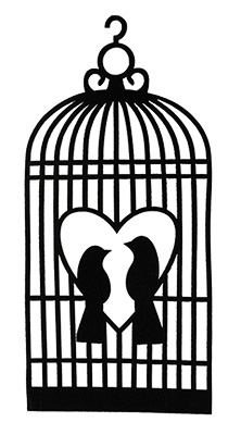 Cage Oiseaux Feutrine Décoration Noir