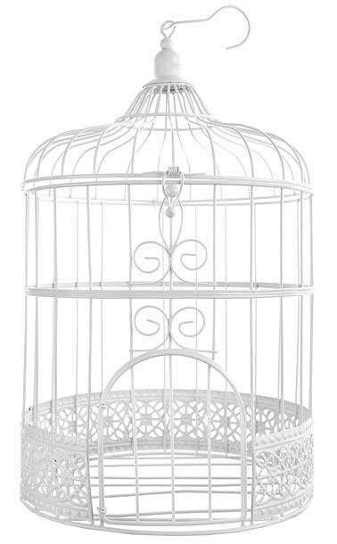 cage oiseaux urne mariage m tal blanc urnes mariage tirelires. Black Bedroom Furniture Sets. Home Design Ideas