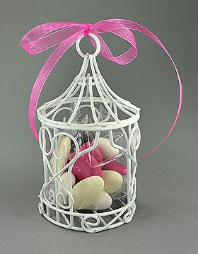 Mini Tonnelle Métal Blanc Cage à Oiseaux Mariage