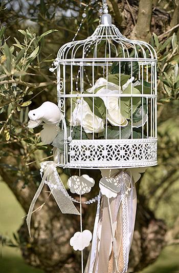 Cage à oiseaux mariage