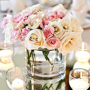 Centre de table fleurs mariage