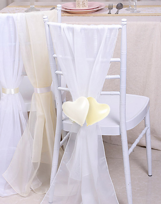Petits Ballons Coeurs Mariage Blanc Ivoire