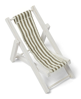 Petite Chaise Longue Marque Place Beige Blanc