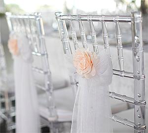 Noeuds de Chaise en Organza Mariage Blanc