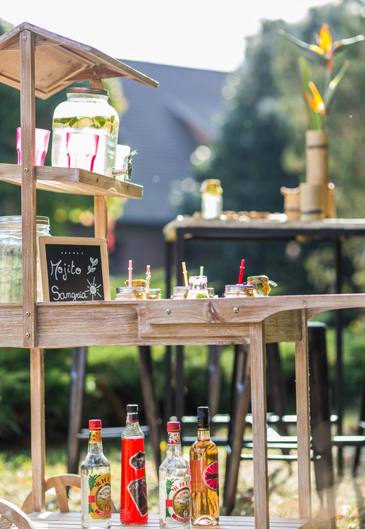 Charette en bois candy bar