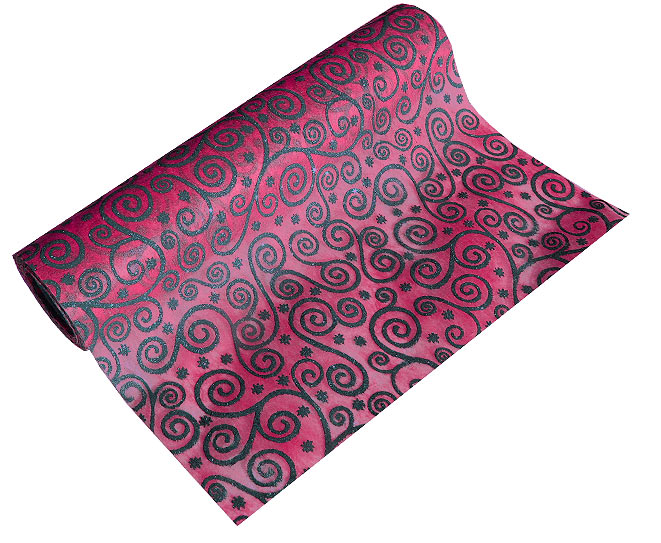 Chemin de table Baroque Paillettes Fuchsia