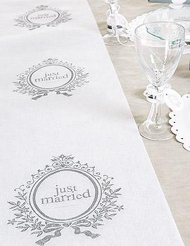 Décoration de Table Mariage Blanc et Gris