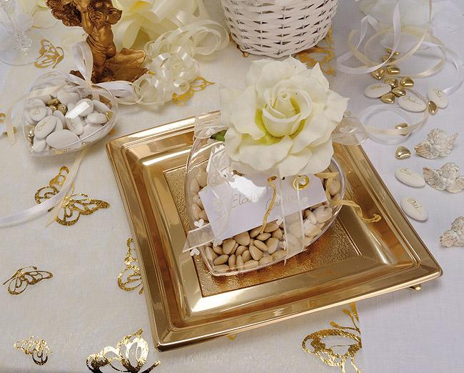 Assiettes jetables dor es mariage vaisselle jetable for Set de table feuille