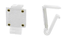Clips Pvc Fixation Velcro Jupe de Table Blanc