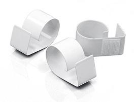 Clips Métal Laqué Velcro Jupe de Table Blanc