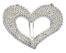 Coeur argenté perlé de décoration