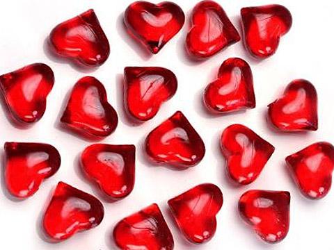 Lot de 30 coeurs cristal translucides deco de table noel - Decoration coeur rouge ...