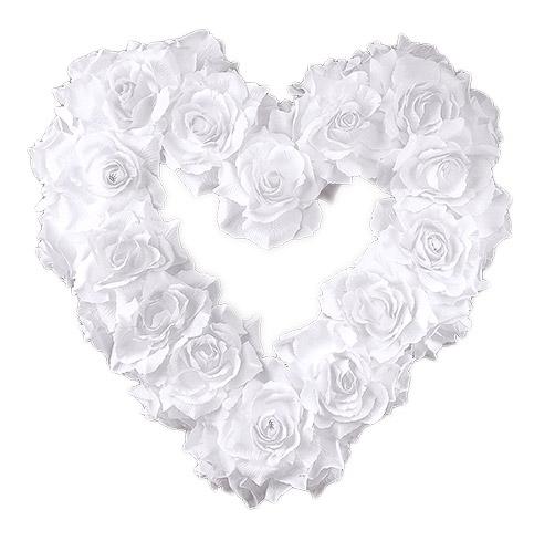 Coeur Fleurs Blanches Decoration Voiture Mariage Decoration
