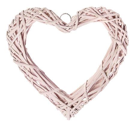 Le coeur en osier tress 20cm noel - Coeur en osier ...