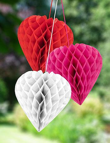 Coeur papier de soie mariage