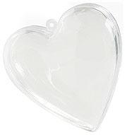 Coeur Pvc Translucide Contenant Dragées