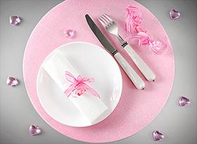 Coeurs Cristal Transparents Deco de Table Mariage Rose