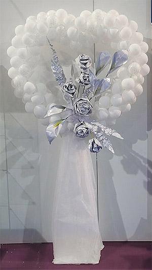 Petits Ballons Nacrés Mariage 12 cm Blanc
