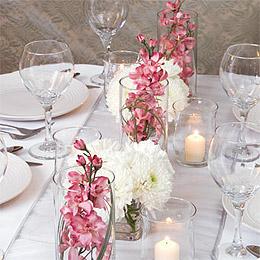 Deco Florale Vase en Verre Droit Cylindrique Transparent