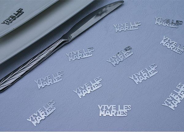 Confettis Décoration de Table Métalliques Brillants Argent