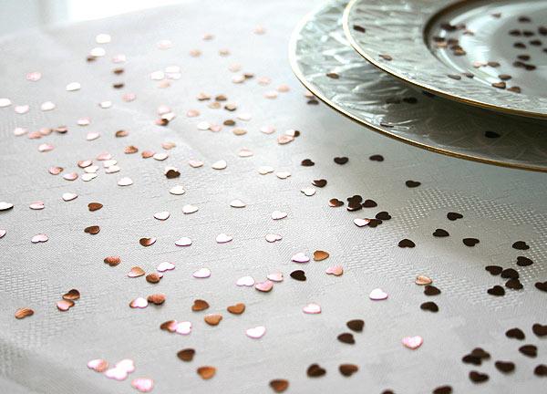 Confettis Déco de Table Métalliques Coeurs Chocolat