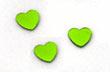 Confettis Déco de Table Métalliques Coeurs Vert Anis