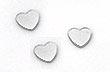 Confettis Déco de Table Métalliques Coeurs Argent
