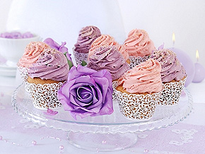 Cupcake Dentelle Papier Blanc