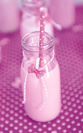 Décoration bouteille de lait candy bar