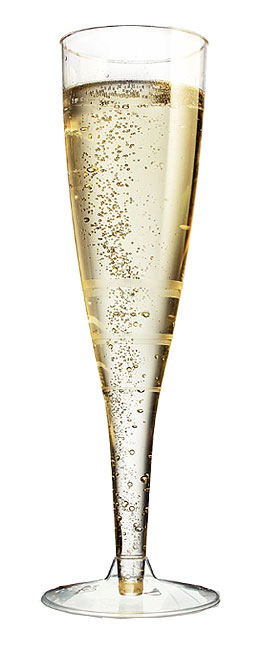 Lot de 6 flutes champagne ou cocktail translucides - Coupe de champagne mariage ...