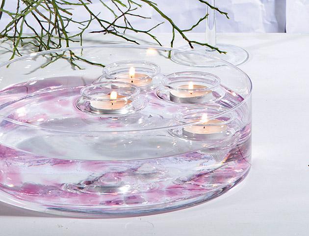 Coupelle en verre ronde droite mariage vases coupelles for Ordre des verres sur la table