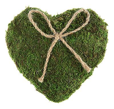 Coussin coeur alliance mousse vert