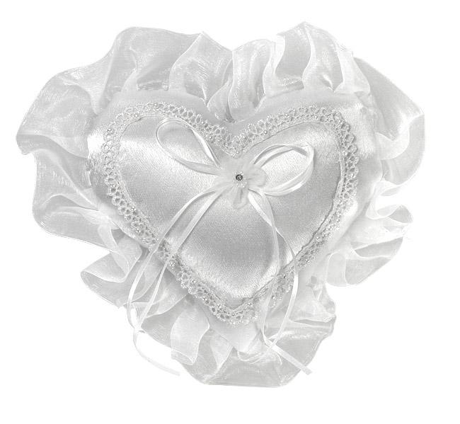 shop le coussin coeur porte alliances voile et perles mariage les accessoires du