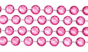 Guirlande Cristal Diamant Fuchsia