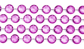 Guirlande Cristal Diamant Parme