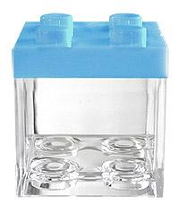 Cube Légo Contenant Dragées Bleu