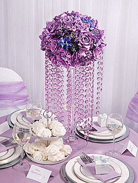 Décoration de table gurirlande cristal Boule fleur