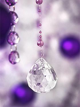 Boule Cristal Diamant Pendentifs Deco Mariage