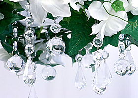 Centre de table Pendentifs Cristal Mariage