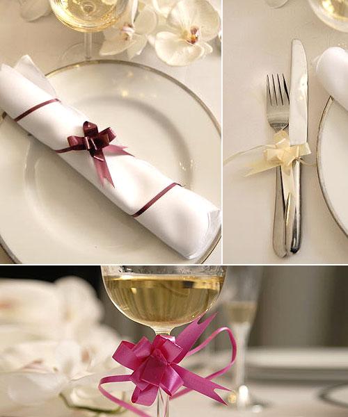 lot de 20 petits noeuds d co serviettes de table d coration de table mariage mariage. Black Bedroom Furniture Sets. Home Design Ideas