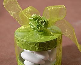 24 Mini Roses Ourlées Décoration Mariage Vert Anis