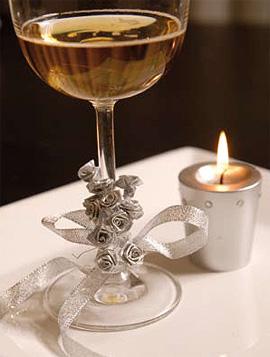 24 Mini Roses Ourlées Décoration Mariage Argent