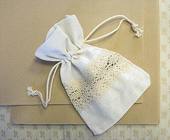 Deco serviette beige