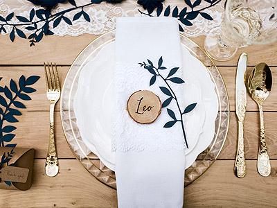 Deco de table mariage rustique