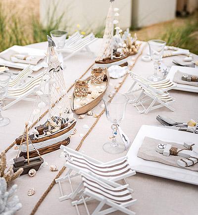 Déco de table thème mer