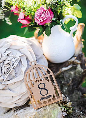 Cages à Oiseaux Kraft Numéros Marque Table Beige - Taupe